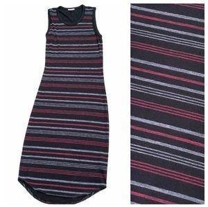 WILFRED FREE striped knit Bodycon Tank Maxi Dress